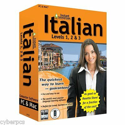 Learn How To Speak Italian With Instant Immersion Levels 1 3 Retail Box