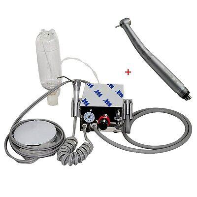 Portable Dental Turbine Unit Air Compressor 4h Fast Speed Handpiece Push 3w 4h
