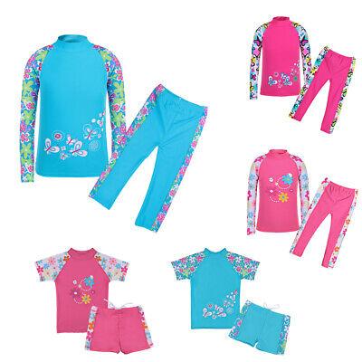 Mädchen Kinder Badeanzug UV Schutz 50+ Schwimmanzug Badebekleidung 2 TLG Tankini (Schwimmen Bekleidung Mädchen)