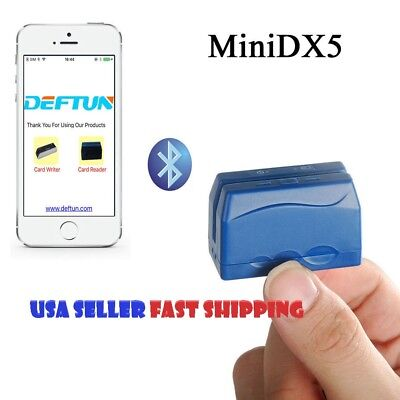 Bluetooth Portable Mobile Credit Card Reader Data Collector Minidx5