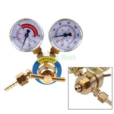 Acetylene Gas Regulator Welding Cutting Torch Pressure Gauge Fits Cga 200 Female