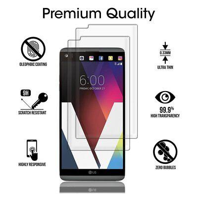 [2-PACK] PREMIUM Tempered Glass [9H] [Full Cover] Screen Protector For LG V20
