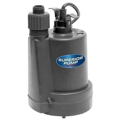 1/4 HP Utility Pump Submersible Thermoplastic Water Sump Flooding Drain Pool