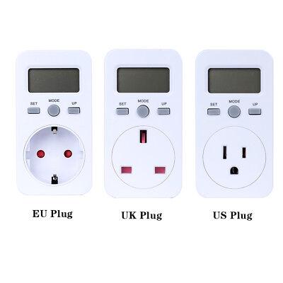 Digital Power Meter Plug-in Socket Electric Wattmeter Energy Monitor Meter D4m7