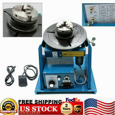 Rotary Welding Positioner Turntable Table Mini 2.5 3 Jaw Lathe Chuck 10kg 110v