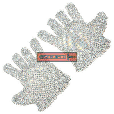 Medieval Chainmail Gloves Metal Armor Light Weight Aluminum Ring Cosplay LARP](Halo Cosplay Armor)