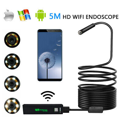 5M IP68 Wifi Waterproof Endoscope Inspection Borescope Camera For Android iphone