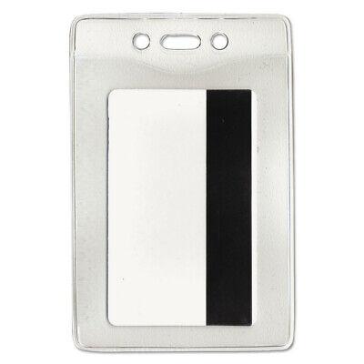 Advantus Security Id Badge Holder Vertical 3 38w X 4 14h Clear 50box 754