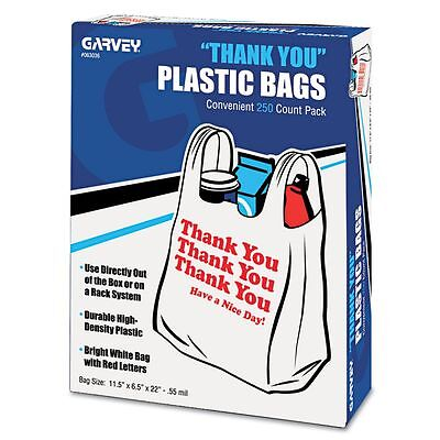 "COSCO ""Thank You"" T-Shirt Plastic Grocery Bags  - UNV63036"
