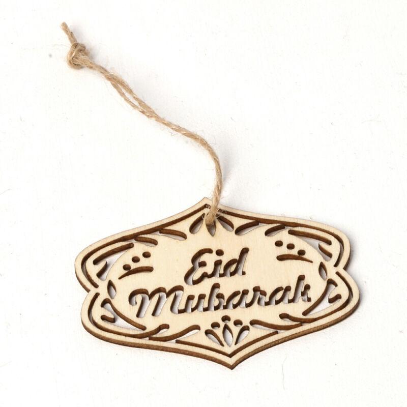 Laser Cut Wooden Ramadan Decoration Eid Mubarak Wood Ornament Wood DIY Crafts