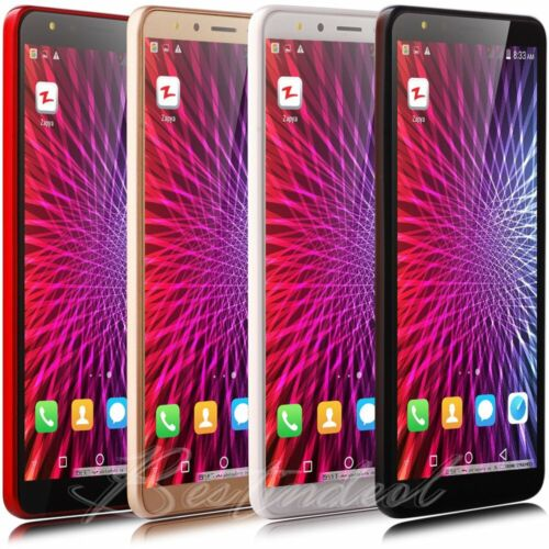 """Android Phone - 5.5"""" QHD Android 8.0 Smart Cell phone Quad Core TWO SIM WiFi 3G GSM GPS Unlocked"""