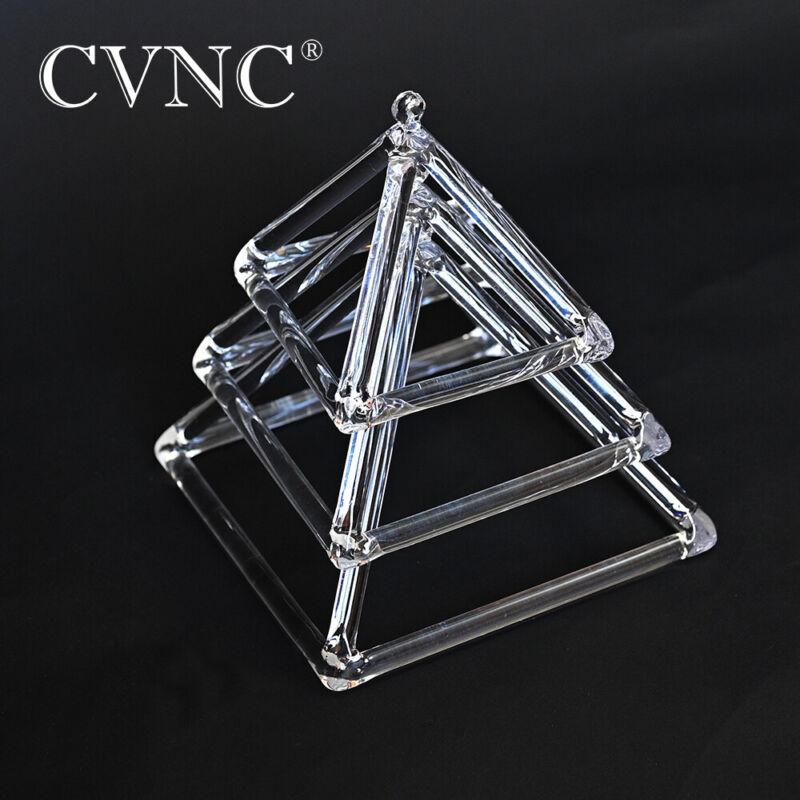 "Set of 3 Pieces 4""-6 ""Healing Music Instrument Quartz Crystal Singing Pyramid"