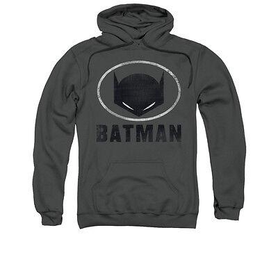 Batman Hoodie Mask (BATMAN MASK IN OVAL Licensed Pullover Hooded Sweatshirt Hoodie)