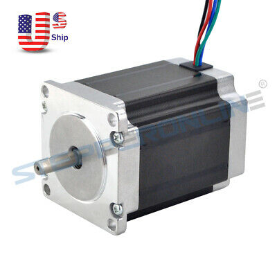 Nema 23 Stepper Motor 1.9nm269oz.in 2.8a 76mm Cnc Mill Robot Lathe 3d Printer