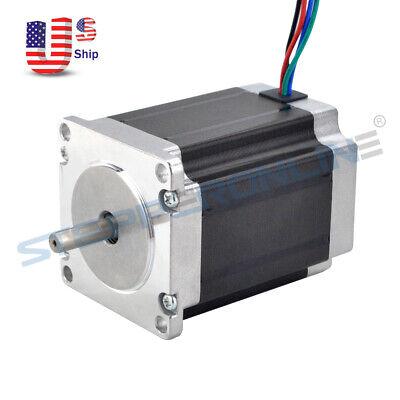 Nema 23 Stepper Motor 1.9nm269oz.in 2.8a 76mm Cnc Mill Robot Lathe 3d Printer