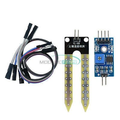 2510pcs Soil Hygrometer Detection Module Moisture Sensor For Arduino Smart Car