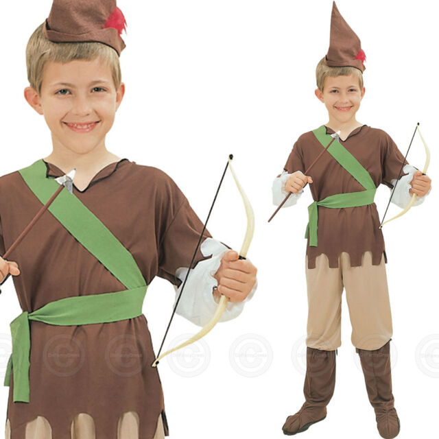 BOYS ROBIN HOOD FANCY DRESS OUTFIT COSTUME PETER PAN BOY MEDIEVAL CHILDS NEW 8