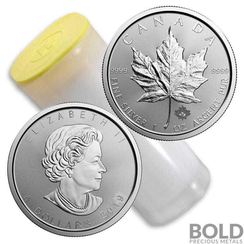 2019 Silver 1 oz Canada Maple Leaf (25 Coins)