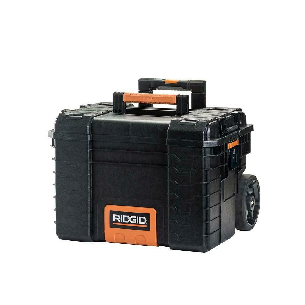 Large Rolling Toolbox Wheels Electricians Contractor Tool Bo