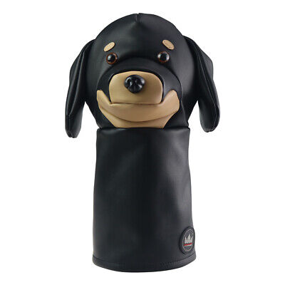 Black PU Leather Animal Headcover for 460cc Driver Taylormade Titleist Golf New
