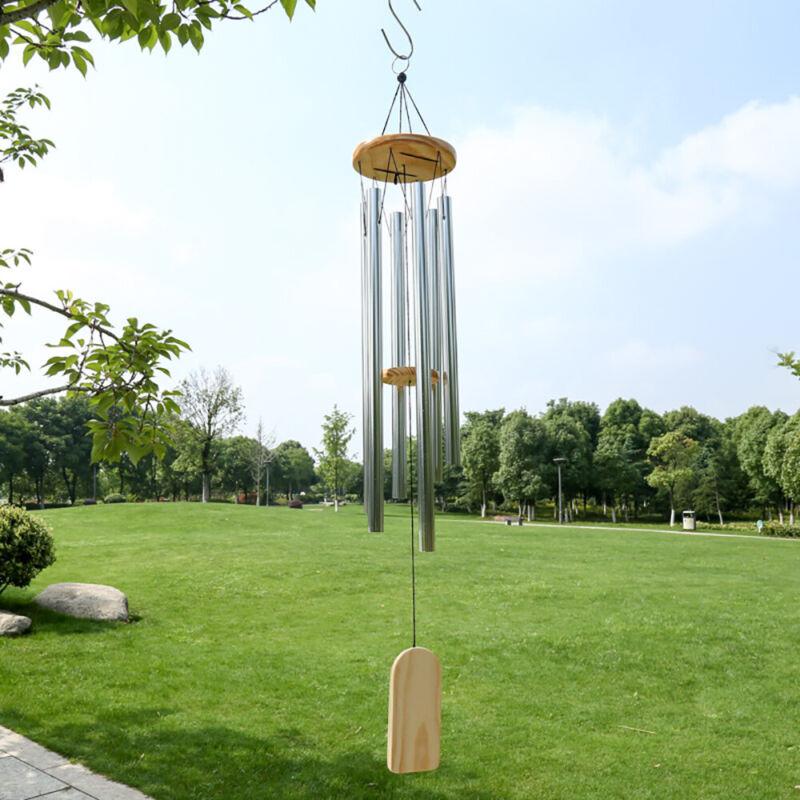 Windspiel 8 Klangröhren Natur Windharfe Perfekt Garten Dekration Klangspiel