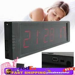 Wall Clock Timer Alarm Clock w/Remote LED Digital Display Timer Countdown 5V DC