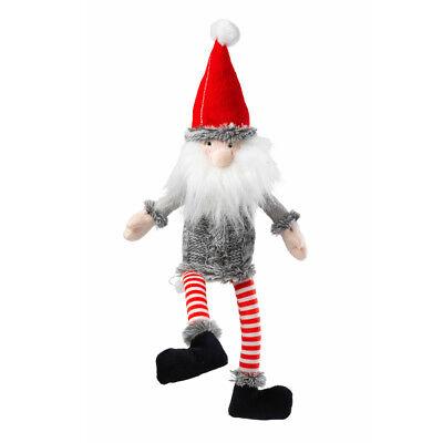 House of Paws Christmas Santa Non-Squeaky Dog Toy | Silent Luxury Plush Soft Fun