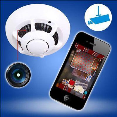P2P Hidden Wireless IP Camera WiFi DVR Digital Video Recorder Cam Smoke Detector