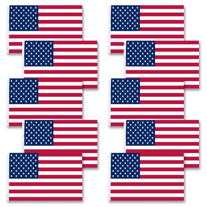 Wholesale 10pcs 3x5 FT USA US American Flag Stars Grommet United States Flagpole