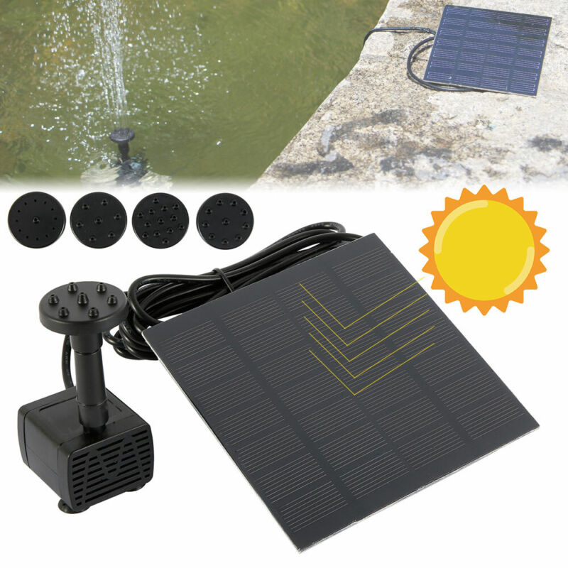 Solar Panel Powered Water Feature Plants Pump Garden Pool Po