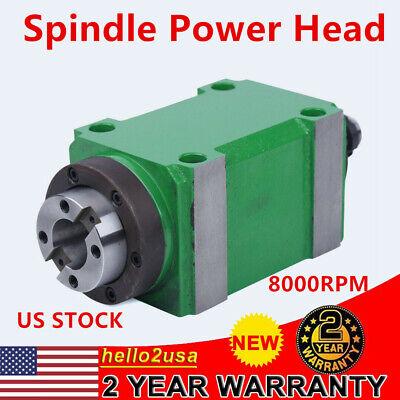Spindle Unit Bt30 724 Taper Power Head 1.5kw 2hp Cnc Drilling Milling Unit Head