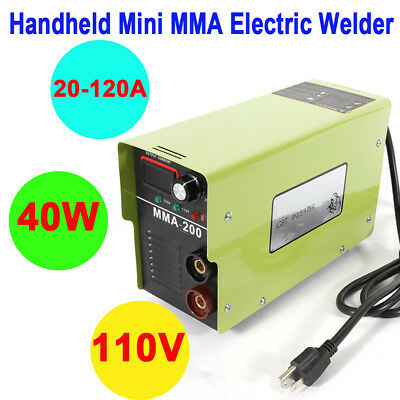40w Handheld Mini Electric Welder Mma-200 110v Inverter Arc Welding Machine Tool