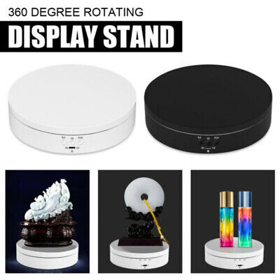 360 Rotating Turntable Electric Jewelry Watch Display Stand Box 3d Art Holder