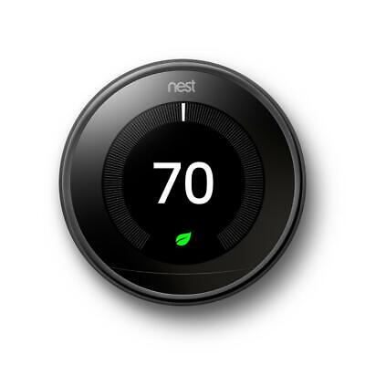 Nest Learning Thermostat 3rd Gen Smart Thermostat (Mirror Black)