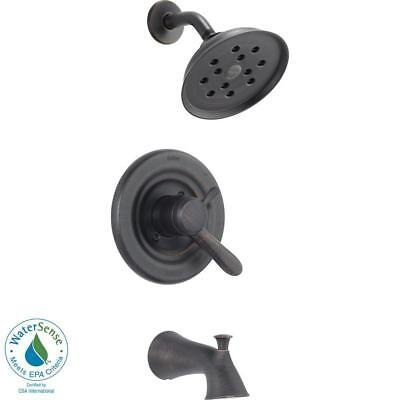 Delta Lahara 1-Handle H2Okinetic Tub and Shower Faucet Trim Kit in Bronze