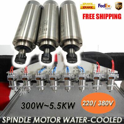 300w5.5kw Spindle Motor Water Cooled 220v 380v Vfd Inverter Driver Cnc Router