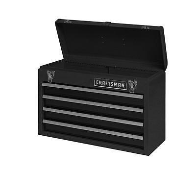 Craftsman 4 Drawer Portable Metal Box Steel Mechanic Tool Chest Toolbox Black