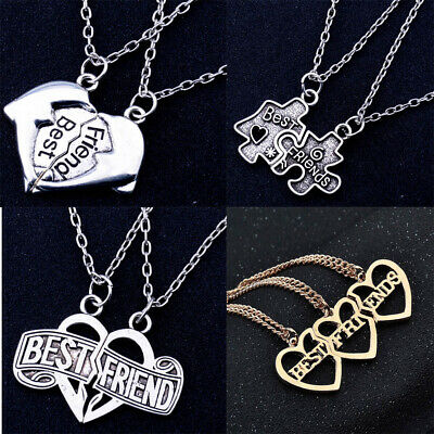 Best Friends Heart Puzzle Piece Pendant Necklace Graduation Friendship Hot - Puzzle Piece Heart