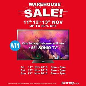 SONIQ Warehouse Clearance Up to 80% off Braeside Kingston Area Preview