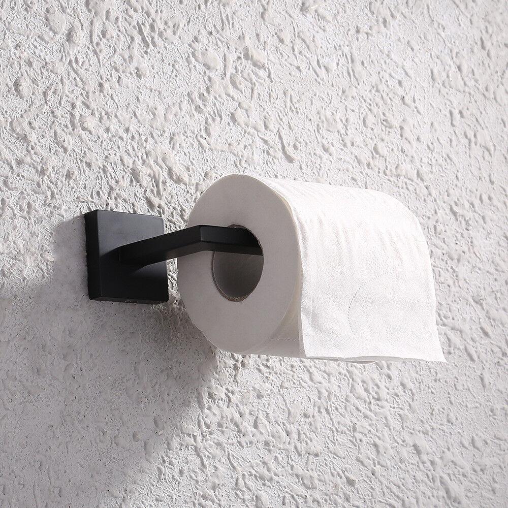 Noir Mat Papier Toilette Support Mural Rouleau Acier Inoxydable 304 Hanger