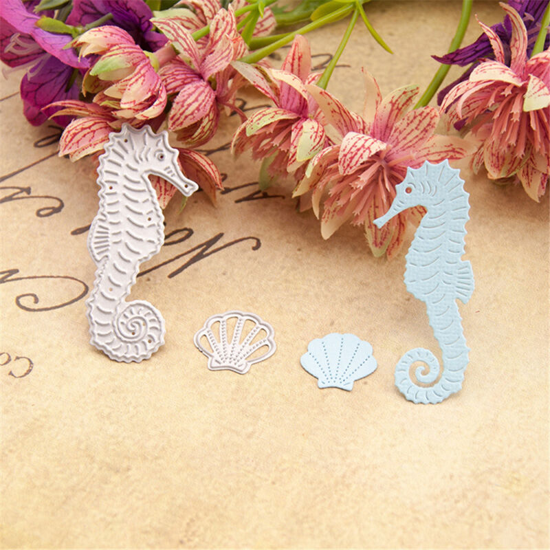 Chic Sea Horse Metal Cutting Dies Stencil Embossing Album Scrapbooking Card Gift