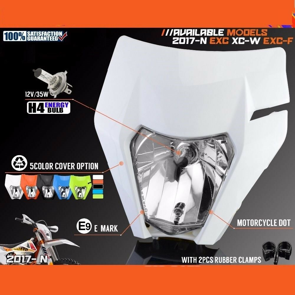 12V 35W Headlight For 2017 2018 KTM EXC XCF SX F SMR Enduro Dirt Bike W SXF 450