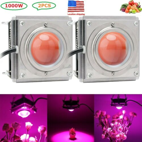 New 2x 1000W COB LED Grow Light Full Spectrum Lamp For Hydroponics Plant Veg Flowers Unbranded Does not apply for 51.2.