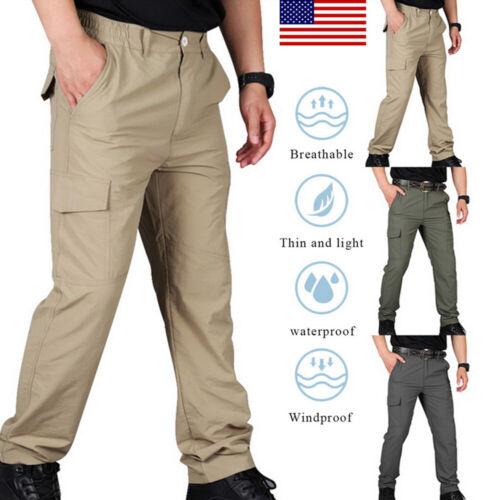 Mens Soldier Tactical Waterproof Pants Cargo Pants Combat Hi