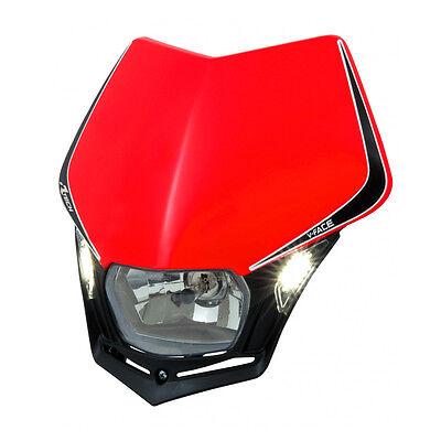 MASCHERINA PORTAFARO RACETECH V-FACE LED ROSSA (Red Headlight) R-MASKRSNR009 usato  Milano