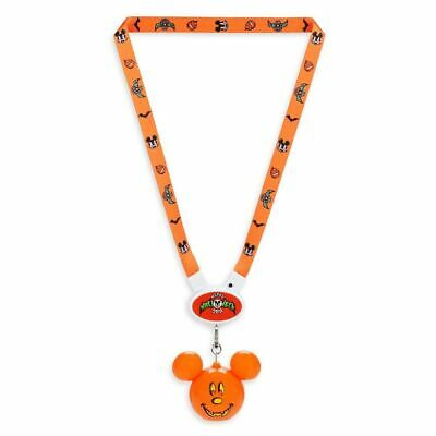 Halloween Falls Park (Disney Parks Halloween Fall 2019 Light Up Mickey Mouse Pumpkin Glow Lanyard)