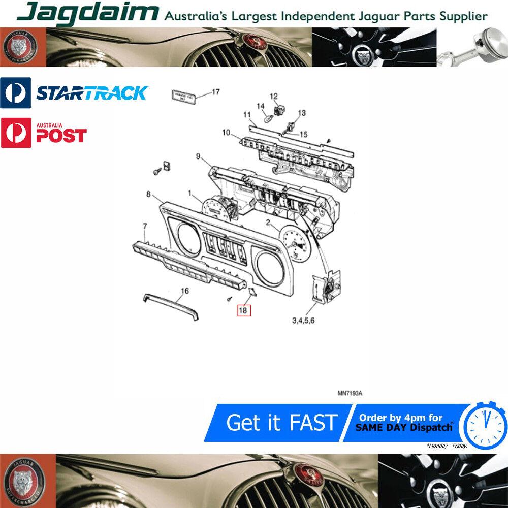 New Jaguar XJS Instrument Surround Joint Finisher Retainer BD47814
