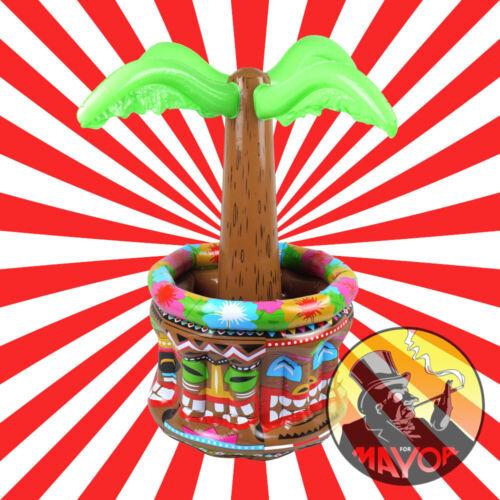 Inflatable Palm Tree Cooler 66cm Luau Hawaiian Summer Party Pool