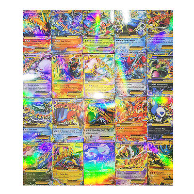 Pop 60Pcs Pokemon Ex Card All Mega Holo Flash Trading Cards Charizard Venusaur