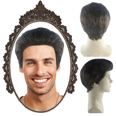 Men's Short Wig Slicked-back Hair for Cosplay Edward Culle Party Costume HM-469 - Costumes For Short Men